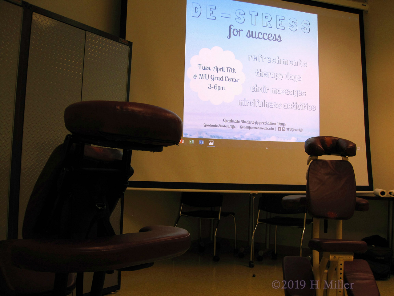 Chair Massage At The De-Stress For Success Event