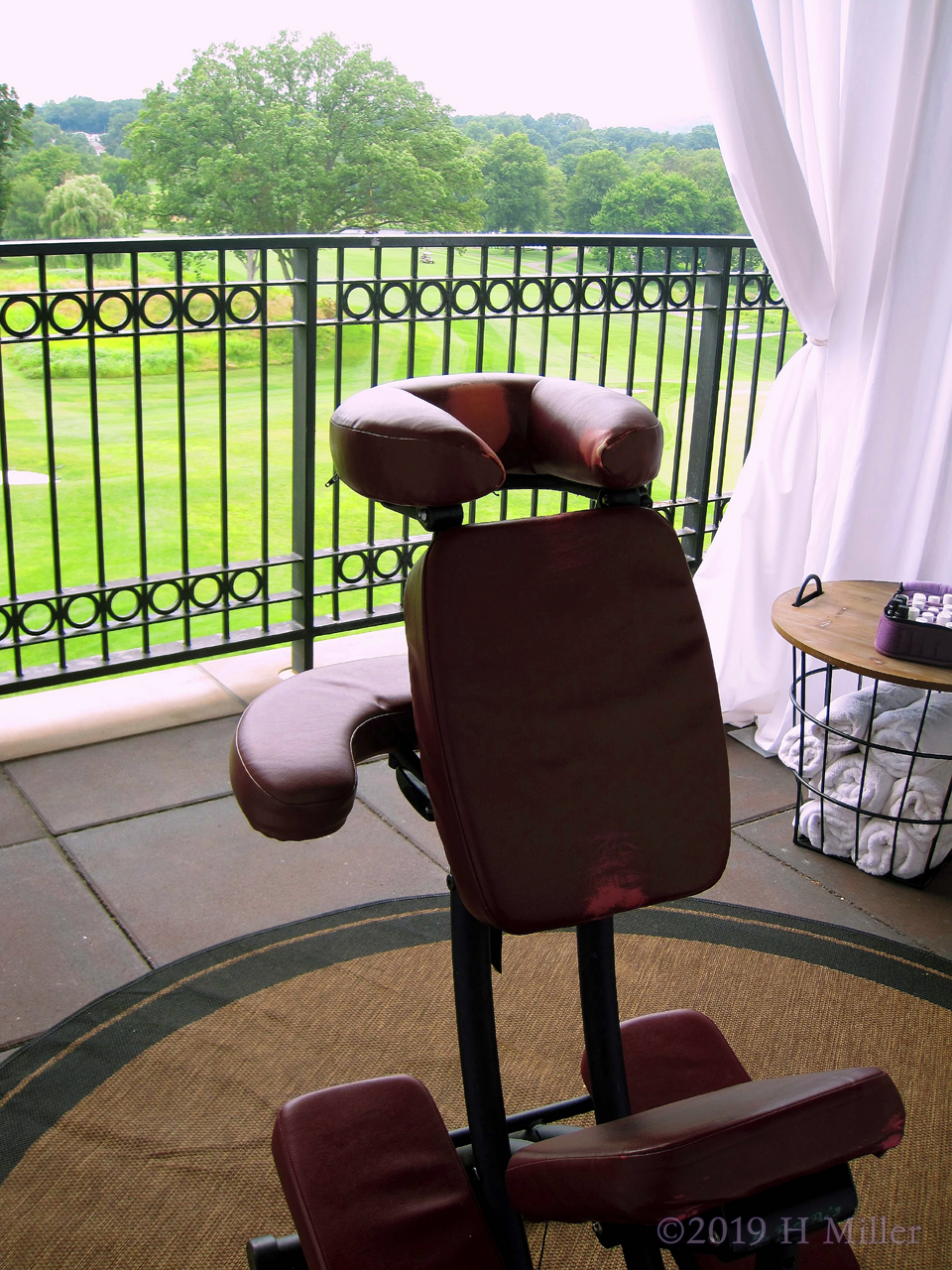 Chair Massage At The Golf Event Overlooking The Course