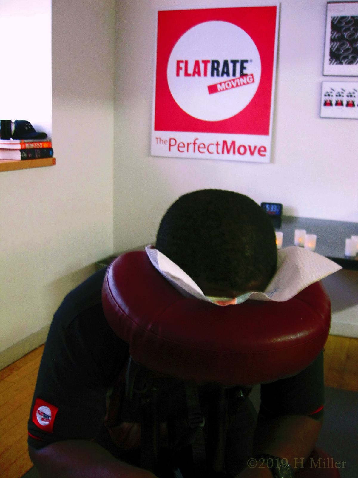 Corporate Massage At A Moving Company