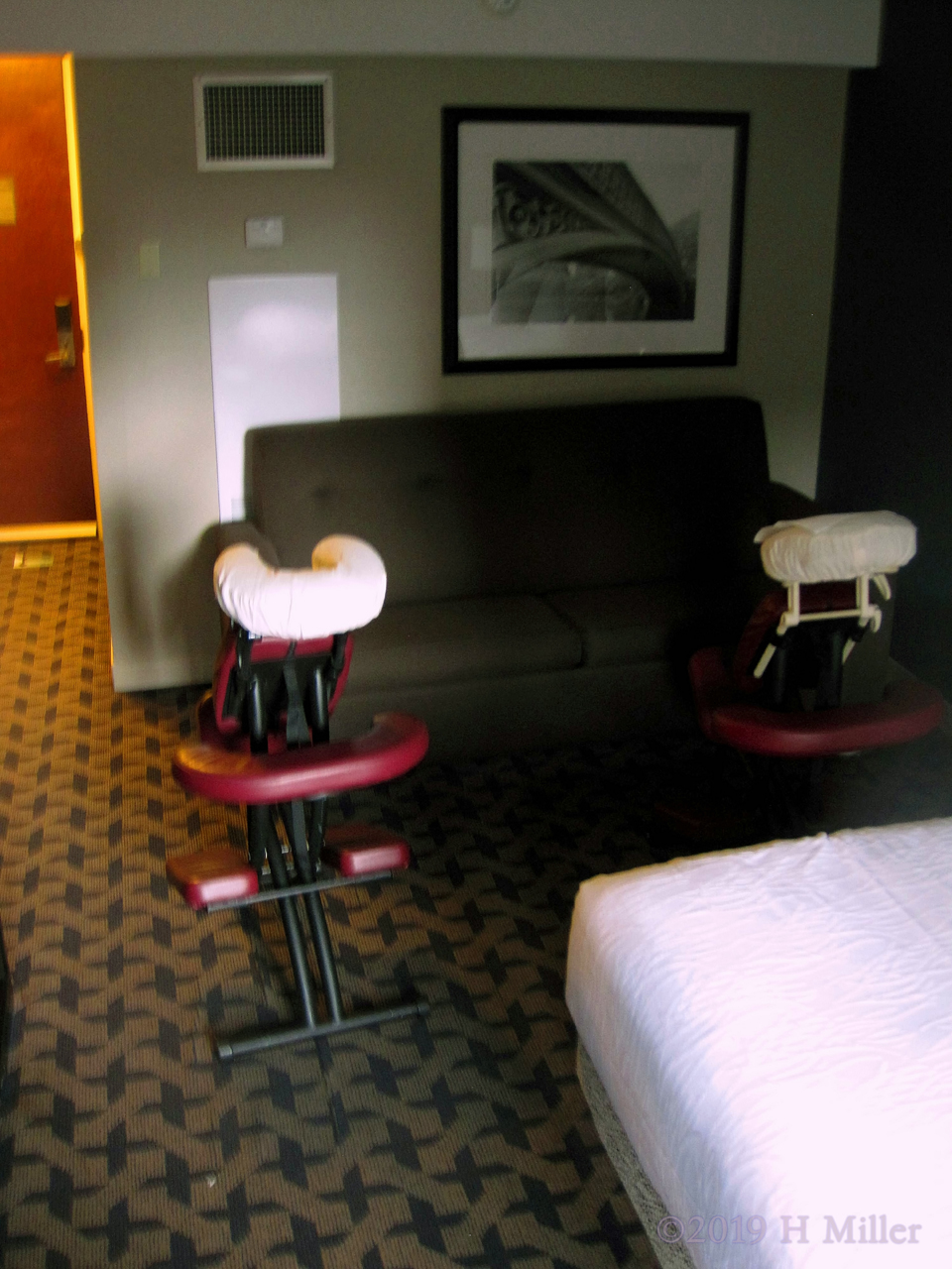 Hotel Staff Receive Chair Massage For Housekeeping Week