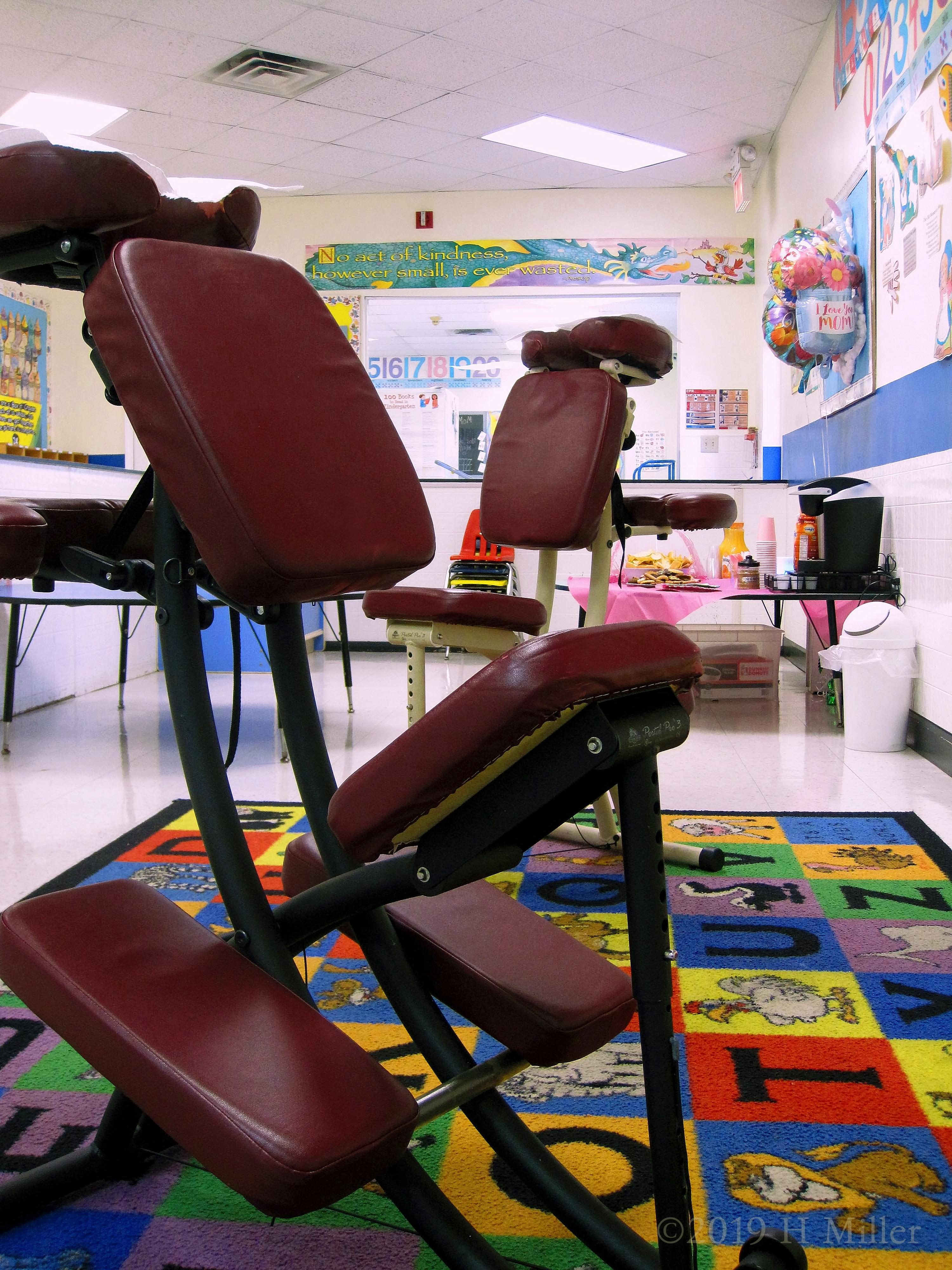 Chair Massage At The Preschool For Teacher Appreciation Week